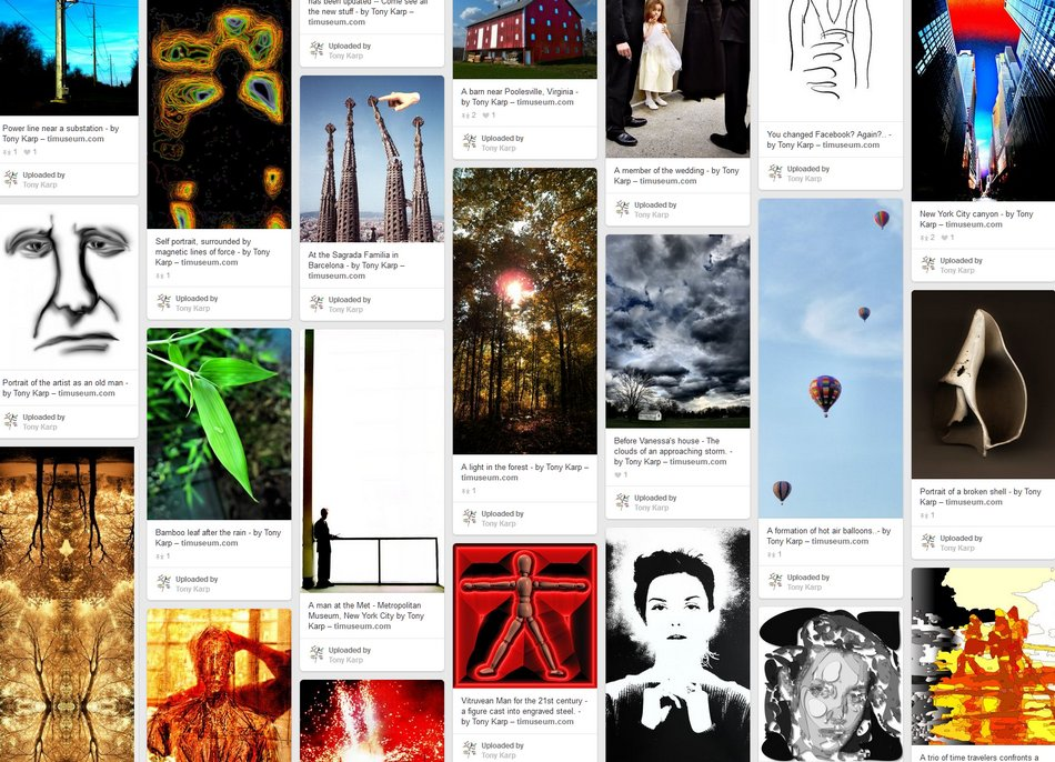 The artist's life all on one Pinterest page - Tony Karp