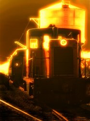 Ghostly diesel engine railway from Strasburg pennsylvania by Tony Karp